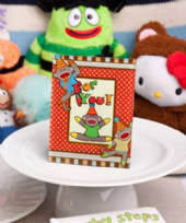 Cheery Sock Monkey Picture Place Card Frame